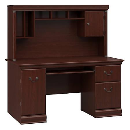 Bush Furniture Birmingham Office Desk With Hutch, Harvest Cherry, Standard Delivery