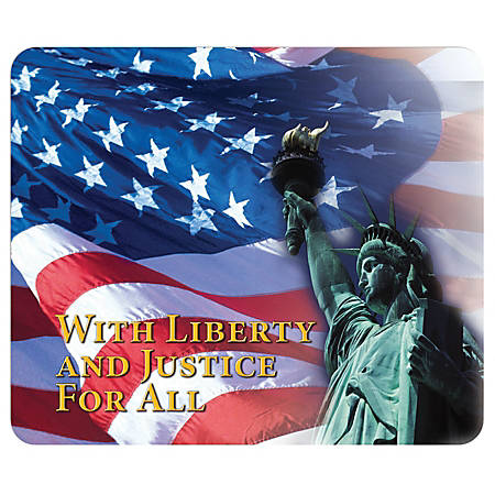 "Integrity Mouse Pad, 8"" x 9.5"", Patriotic USA Pride, Pack Of 6"