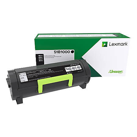 Lexmark™ 51B1000 Return Program Black Toner Cartridge