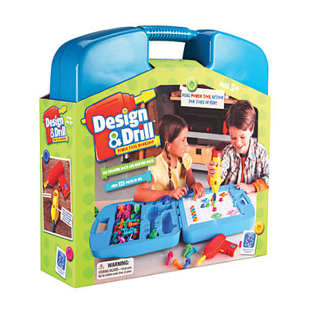Educational Insights® Design & Drill® Power Tool Workshop, Assorted Colors, Grades Pre-K - 2