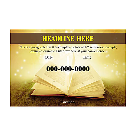 Plastic Sign Template, Holy Bible, Horizontal