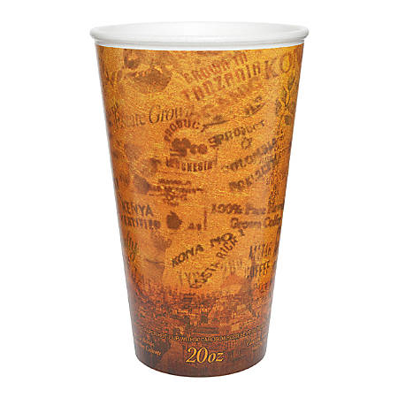 Dart Escape Print ThermoThin Insulated Cup - 20 / Bag - 20 fl oz - 25 / Carton - Multi - Foam - Hot Drink, Cold Drink, Beverage