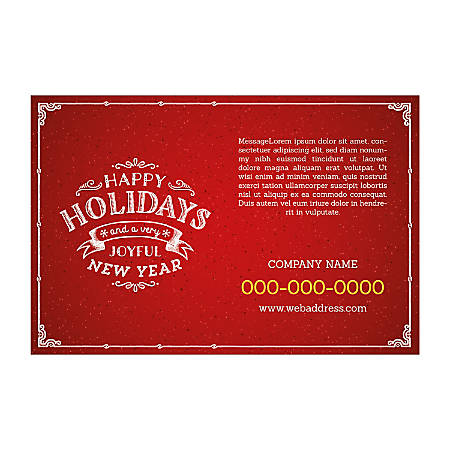 Poster Templates, Horizontal, Red Holiday