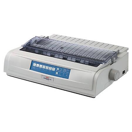 OKI® MICROLINE 421 Monochrome Dot Matrix Printer, OKI62418801
