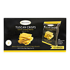 Dolcetto Italian Cheese Blend Tuscan Crisps