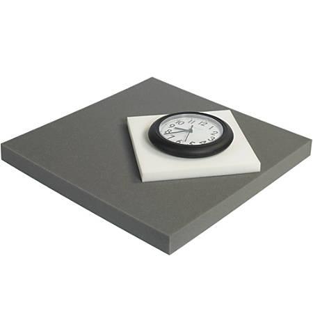 "Office Depot® Brand Soft Foam, Sheets, 2""H x 12""W x 12""D, Charcoal, Case Of 24"