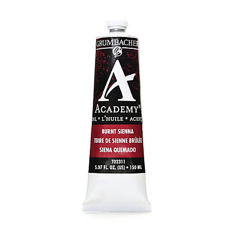 Grumbacher Academy Oil Colors, 5.07 Oz, Burnt Sienna, Pack Of 2
