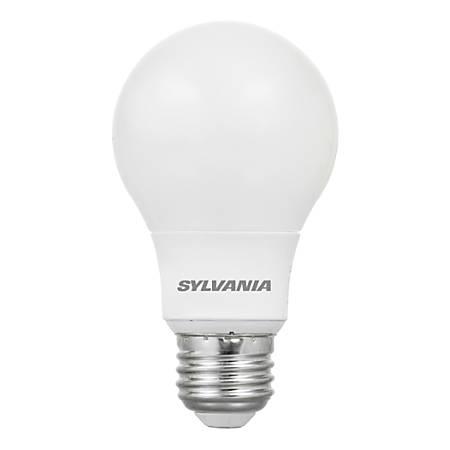 Sylvania A19 Dimmable LED Bulbs, 800 Lumens, 10 Watt, 5000 Kelvin/Daylight, Pack Of 6 Bulbs