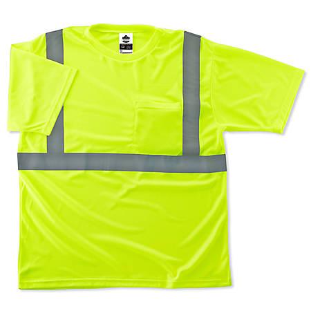 Ergodyne GloWear 8289 Type R Class 2 T-Shirt, 4X, Lime