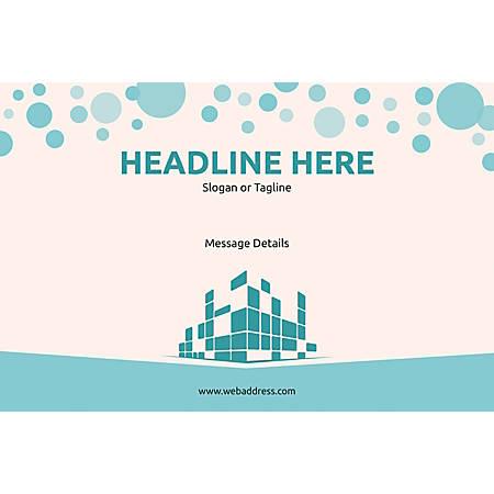 Customizable Window Decal, Horizontal, Graphic Building