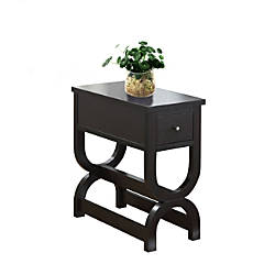 Monarch Specialties Side Table Rectangle Cappuccino