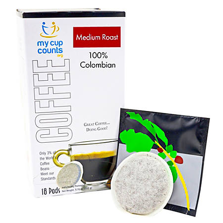 My Cup Counts Coffee Pods, Colombian, Pack Of 36 Pods