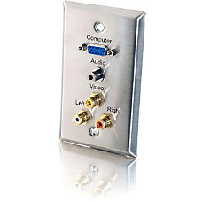 C2G 5 Port Audio Video Faceplate