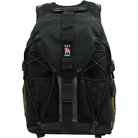 "Ape Case ACPRO2000 Digital SLR And Laptop Backpack With 17"" Laptop Pocket, Black/Hi-Vis Yellow"