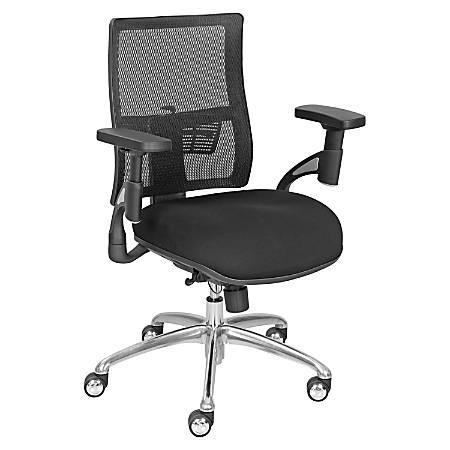 "La-Z-Boy Mid-Back Task Chair, 42 2/16""H x 35""W x 20 10/16""D, Black"