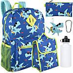 Trailmaker 6-In-1 Backpack Set, Sharks, Blue