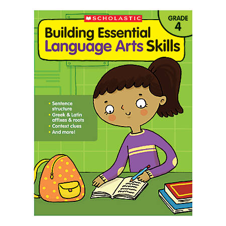 scholastic teacher resources building essential language arts skills grade 4 by office depot. Black Bedroom Furniture Sets. Home Design Ideas