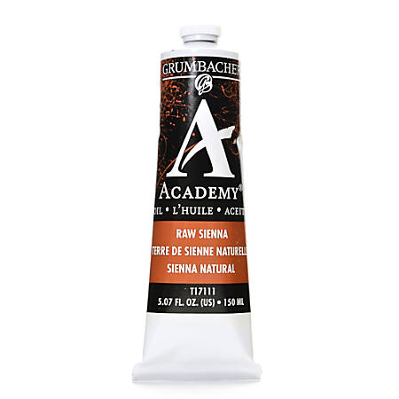 Grumbacher Academy Oil Colors, 5.07 Oz, Raw Sienna, Pack Of 2