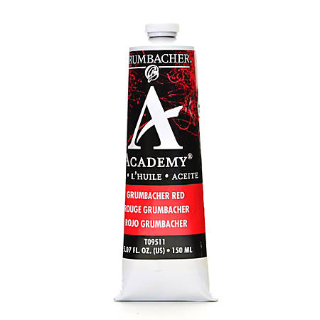 Grumbacher Academy Oil Colors, 5.07 Oz, Grumbacher Red, Pack Of 2