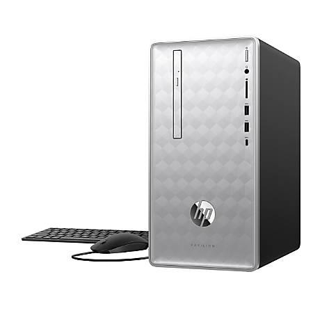 HP Pavilion 590-p0016 Desktop PC, 8th Gen Intel® Core™ i3, 8GB Memory/16GB Intel Optane™ Memory, 1TB Hard Drive, Windows® 10 Home