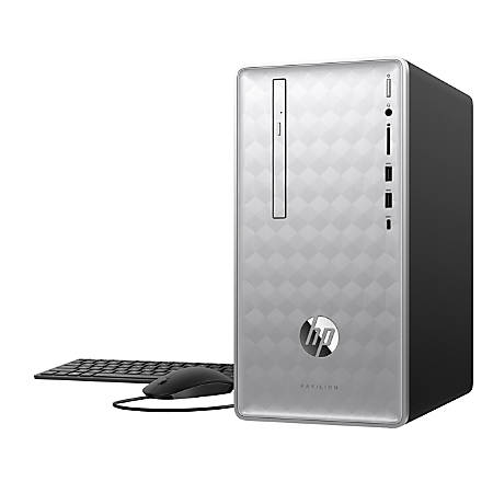 HP Pavilion 590-p0016 Desktop PC, 8th Gen Intel® Core™ i3, 8GB Memory/16GB Intel Optane™ Memory, 1TB Hard Drive, Windows® 10 Home