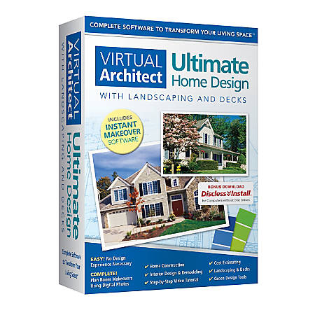 Nova Development Virtual Architect Ultimate Home Design With Landscaping And Decks, Traditional Disc