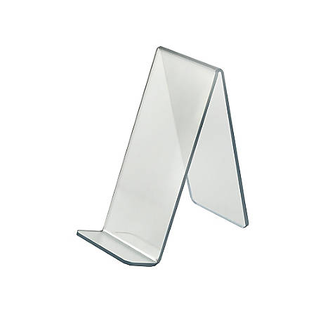 """Azar Displays Tabletop Easels, Acrylic, 8 3/4""""H x 4""""W x 8""""D, Clear, Pack Of 10"""