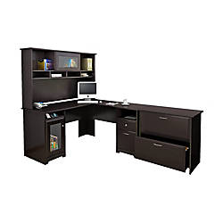 Awesome Corner Computer Desk with File Cabinet