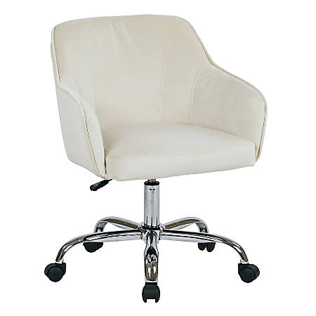 Office Star™ Avenue Six® Bristol Task Chair, Fabric, Oyster Velvet/Silver