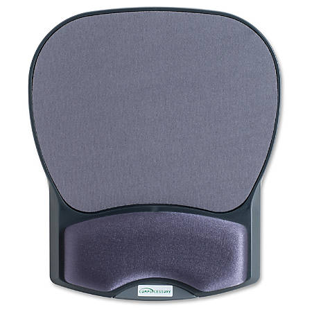 """Compucessory Gel Wrist Rest with Mouse Pads - 8.7"""" x 10.2"""" x 1.2"""" Dimension - Charcoal - Gel, Lycra"""