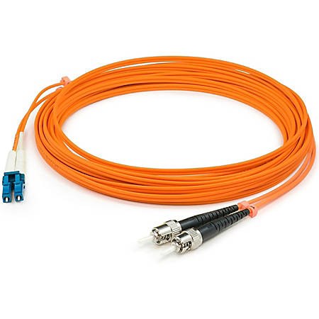 AddOn 6m LC (Male) to ST (Male) Orange OM1 Duplex Fiber OFNR (Riser-Rated) Patch Cable