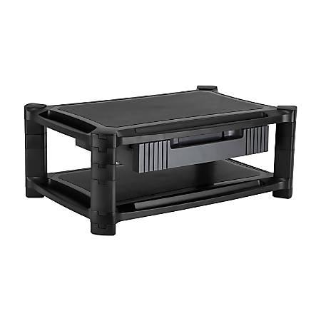"Mount-It Desktop Printer Stand With Drawer, 7.625""H x 19.3""W x 13""D, Black, MI-7853"