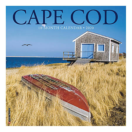 "Willow Creek Press Scenic Monthly Wall Calendar, 12"" x 12"", Cape Cod, January To December 2020"