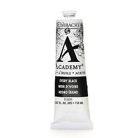 Grumbacher Academy Oil Colors, 5.07 Oz, Ivory Black, Pack Of 2