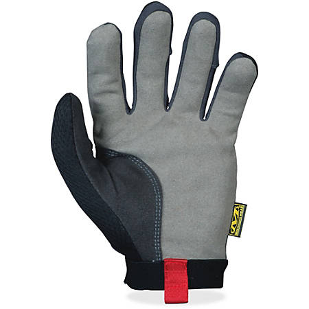 Mechanix Wear 2-way Stretch Utility Gloves - 9 Size Number - Medium Size - Spandex, Lycra, Leather Palm, Leather Thumb, Leather Index Finger - Black - Stretchable, Air Vent, Reinforced Palm Pad, Snag Resistant, Hook & Loop - 1 / Pair
