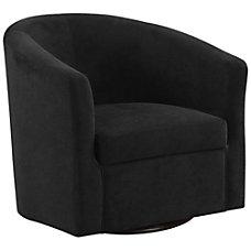 Monarch Specialties Swivel Club Chair Black