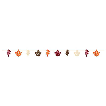 "Amscan Paper Fall Leaves Banner, 18' x 7-4/5"", Pack Of 2"