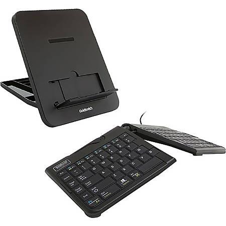 GTP-0044 Wired Mobile Keyboard & GTLS-0077U Stand Bundle - Black