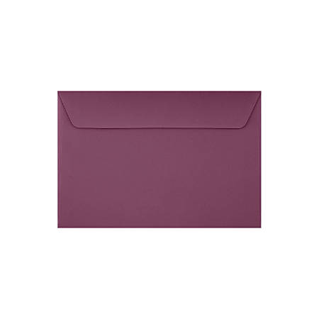 "LUX Booklet Envelopes With Moisture Closure, #6 1/2, 6"" x 9"", Vintage Plum, Pack Of 50"