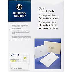 Business Source Clear Laser Print Mailing