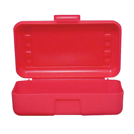 "Romanoff Products Pencil Boxes, 8 1/2""H x 5 1/2""W x 2 1/2""D, Red, Pack Of 12"