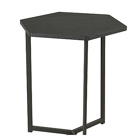 Homestar North America Hexagon End Table, Black