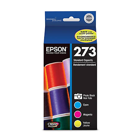 Epson® Claria, Premium 273 Color Ink Cartridges (T273520-S), Pack Of 4
