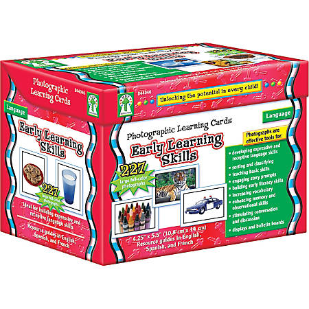Carson-Dellosa™ Early Learning Skills Photographic Learning Cards, Grades K - 5