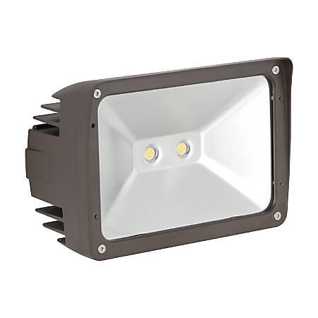 Luminance LED Exterior Floodlight, 30 Watts, 4000K/Cool White, 3000 Lumen, Bronze/Clear Glass