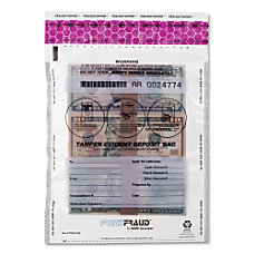 MMF Clear FeezeFraud Deposit Bags 9