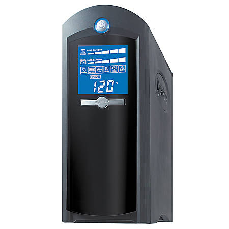 CyberPower® Intelligent LCD CP1350AVRLCD 1350 VA Tower UPS