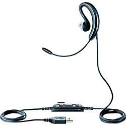 Jabra® UC Voice 250 Microsoft® Lync Mono Wired Behind-The-Ear Ear Set, Black/Silver