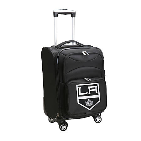 """Denco ABS Upright Rolling Carry-On Luggage, 21""""H x 13""""W x 9""""D, Los Angeles Kings, Black"""