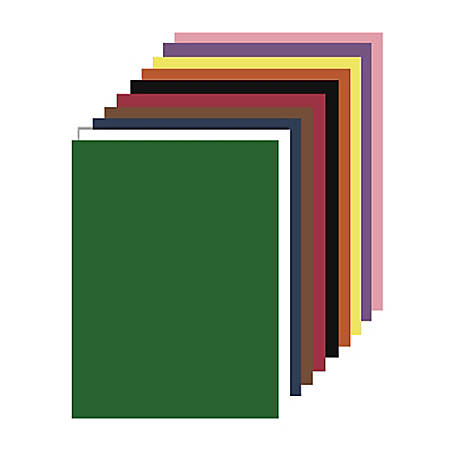 "Nature Saver Smooth Texture Construction Paper, 100% Recycled, 9"" x 12"", Assorted Colors, Pack Of 50"